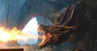 Drogon on Game of Thrones
