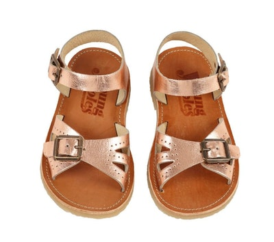 Young Soles Pearl Sandals in Rose Gold