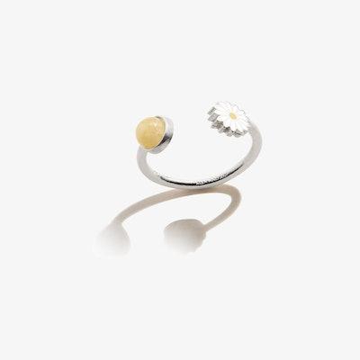 Daisy + Pineapple Jasper Ring Wrap