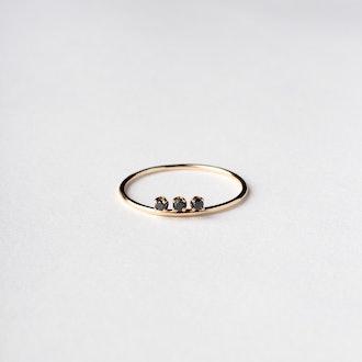3 Black Diamond Ring