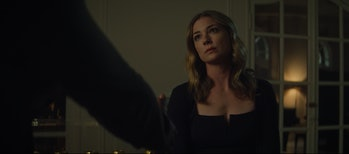 Emily VanCamp as Sharon Carter in The Falcon and the Winter Soldier Episode 3