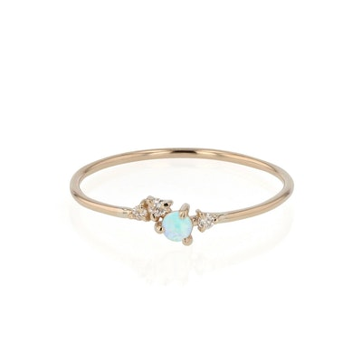 Tiny Chroma Opal Ring