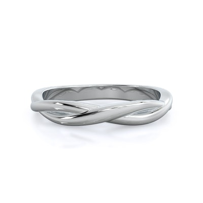 Twisting Solitaire Band