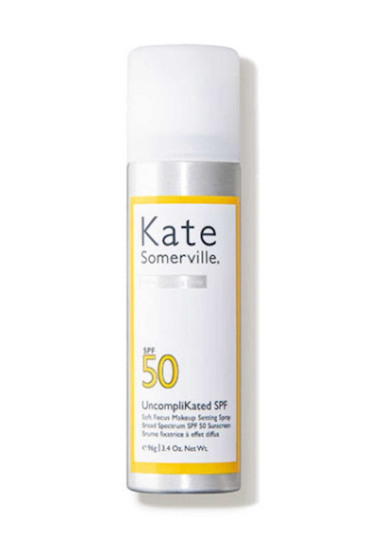 UncompliKated SPF Soft Focus Makeup Setting Spray Broad Spectrum SPF 50 Sunscreen