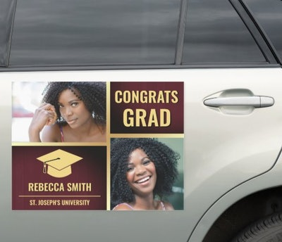 Personalized Graduation Photo Car Decal