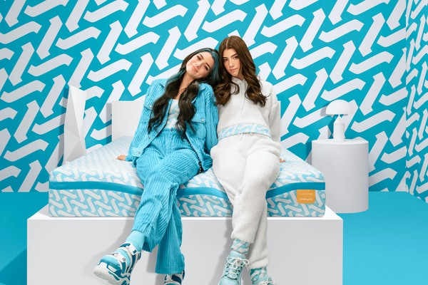 You can enter Simmons' dream room contest for a chance to get your bedroom redone by the D'Amelio sisters.