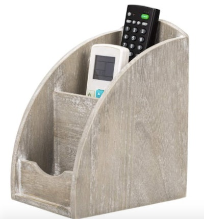 3 Slot Wooden Remote Control Caddy