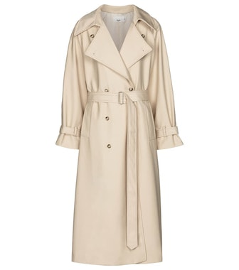 Woven twill trench coat