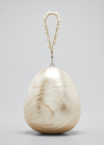 Pearl Acrylic Wristlet Pouch Crossbody Bag
