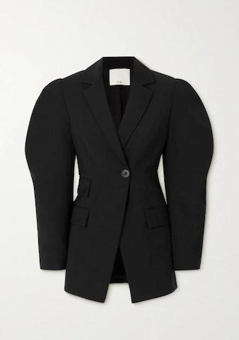 Wool-crepe blazer