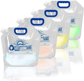 WaterStorageCube 1.3-Gallon Collapsible Water Bags (4-Pack)