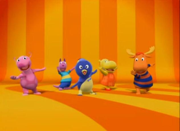 'The Backyardigans' follows the backyard adventures of whimsical animals.
