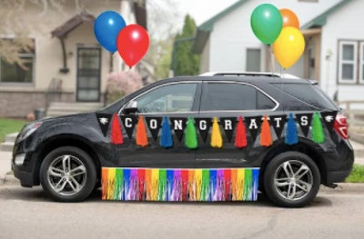 Rainbow Graduation Car Parade Kit