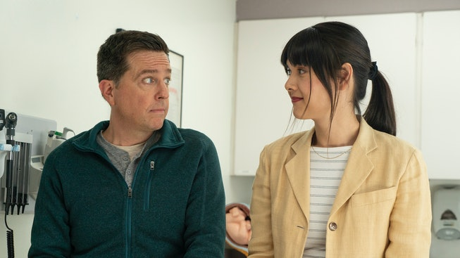 Ed Helms and Patti Harrison star in 'Together Together,' the new Bleecker Street comedy about surrog...