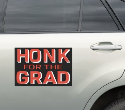 Honk For The Grad Decal