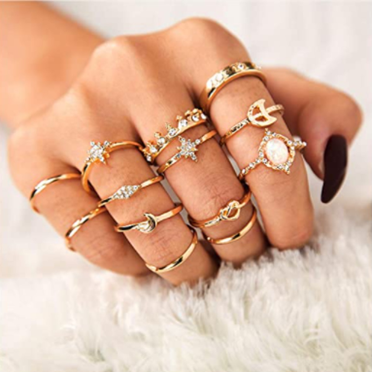 Sither Gold Ring Set (13 Pieces)