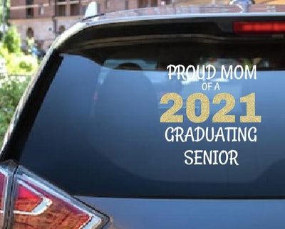 LEACraftDesign Proud Mom Grad Decal