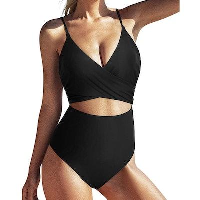SUUKSESS Wrap Cut-Out Monokini Swimsuit