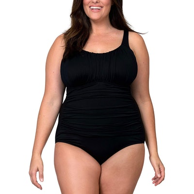 Caribbean Sand Ruched One-Piece Swimsuit