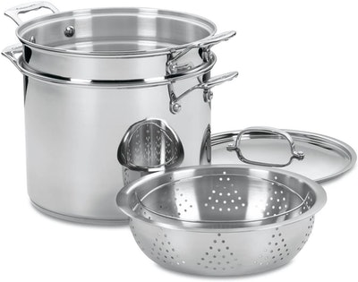Cuisinart Chef's Classic Stainless 4-Piece Pasta/Steamer Set (12 Quarts)