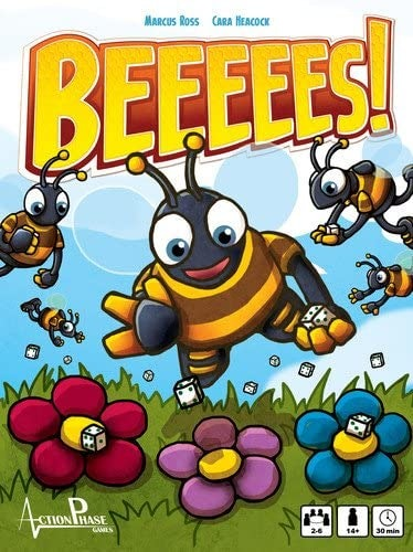 An image of the board game design for BEEEEES!