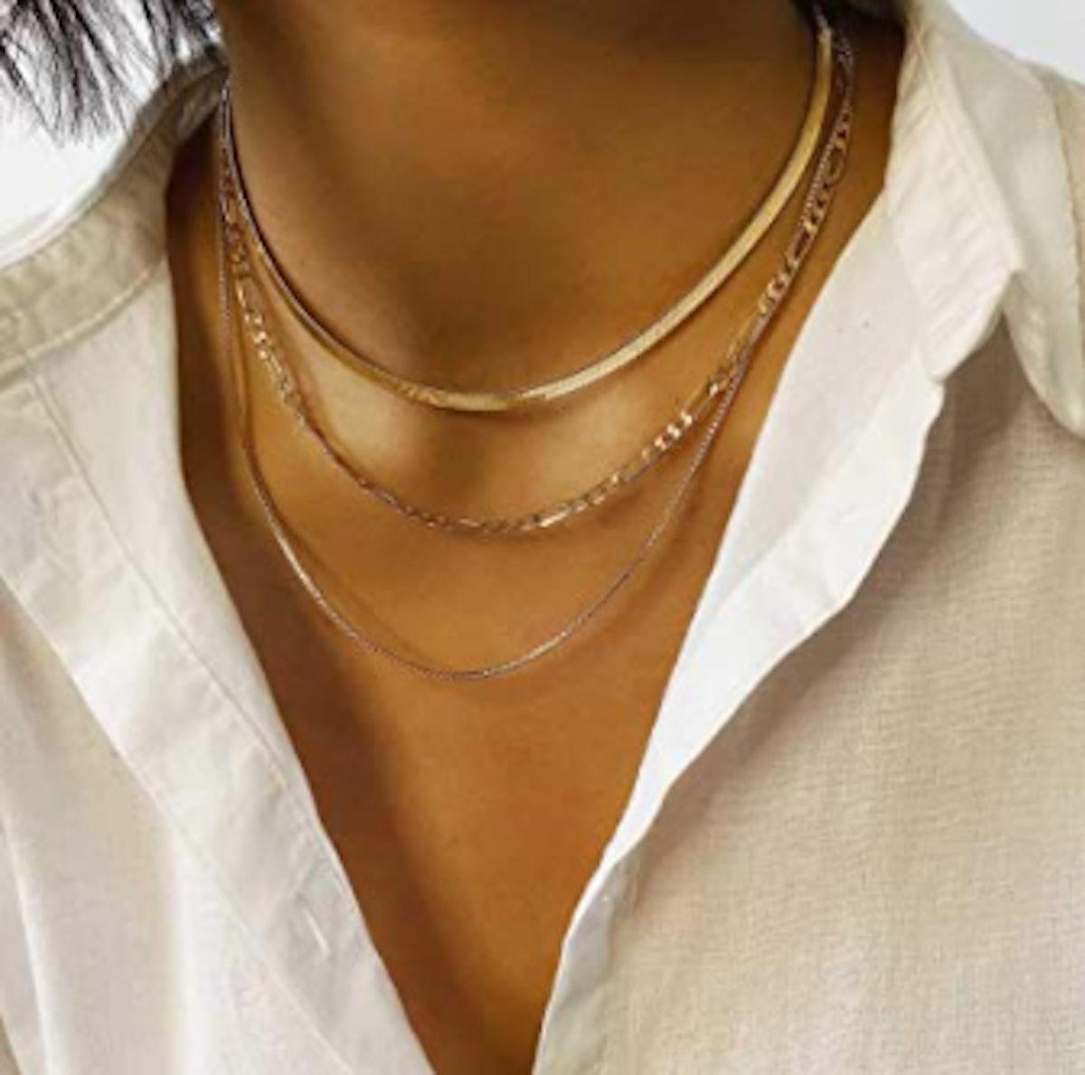 Jeairts Punk Layered Necklace