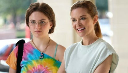 Sarah Drew and Chiara Aurelia on Cruel Summer via the Freeform press site