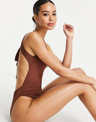 Tall Tie Back High Neck Swimsuit