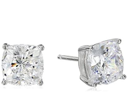 Amazon Collection Cubic Zirconia Stud Earrings