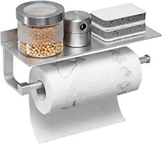 BESy Adhesive Paper Towel Holder Shelf