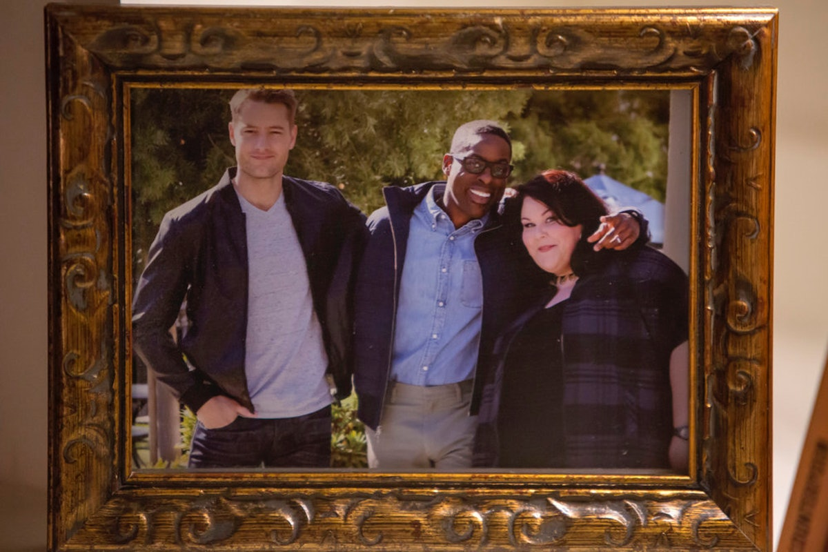 Justin Hartley, Sterling K. Brown, and Chrissy Metz as the Pearson Big Three in This Is Us