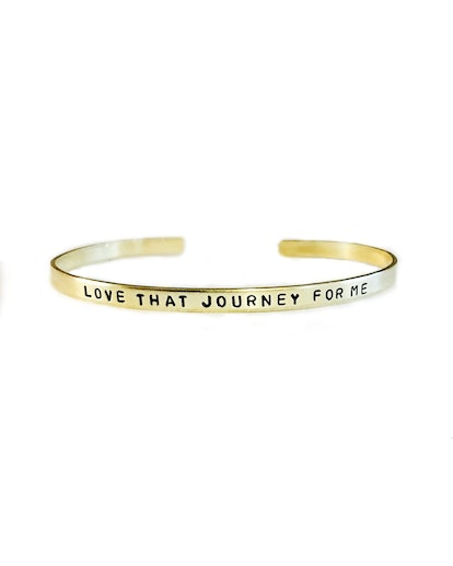 Love That Journey For Me Handstamped Skinny Cuff