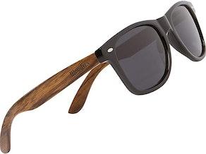 Woodies Polarized Walnut Wood Sunglasses
