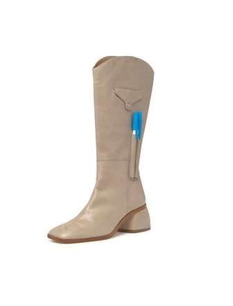 Margot High Leather Pocket Boots