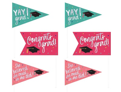 Yay Grad Pennant Flags