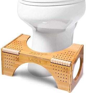 LADER Bamboo Squatting Toilet Stool
