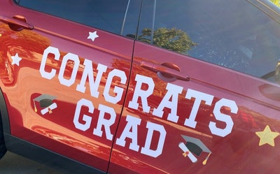 LovinglyMin Magnetic Car Grad Decoration