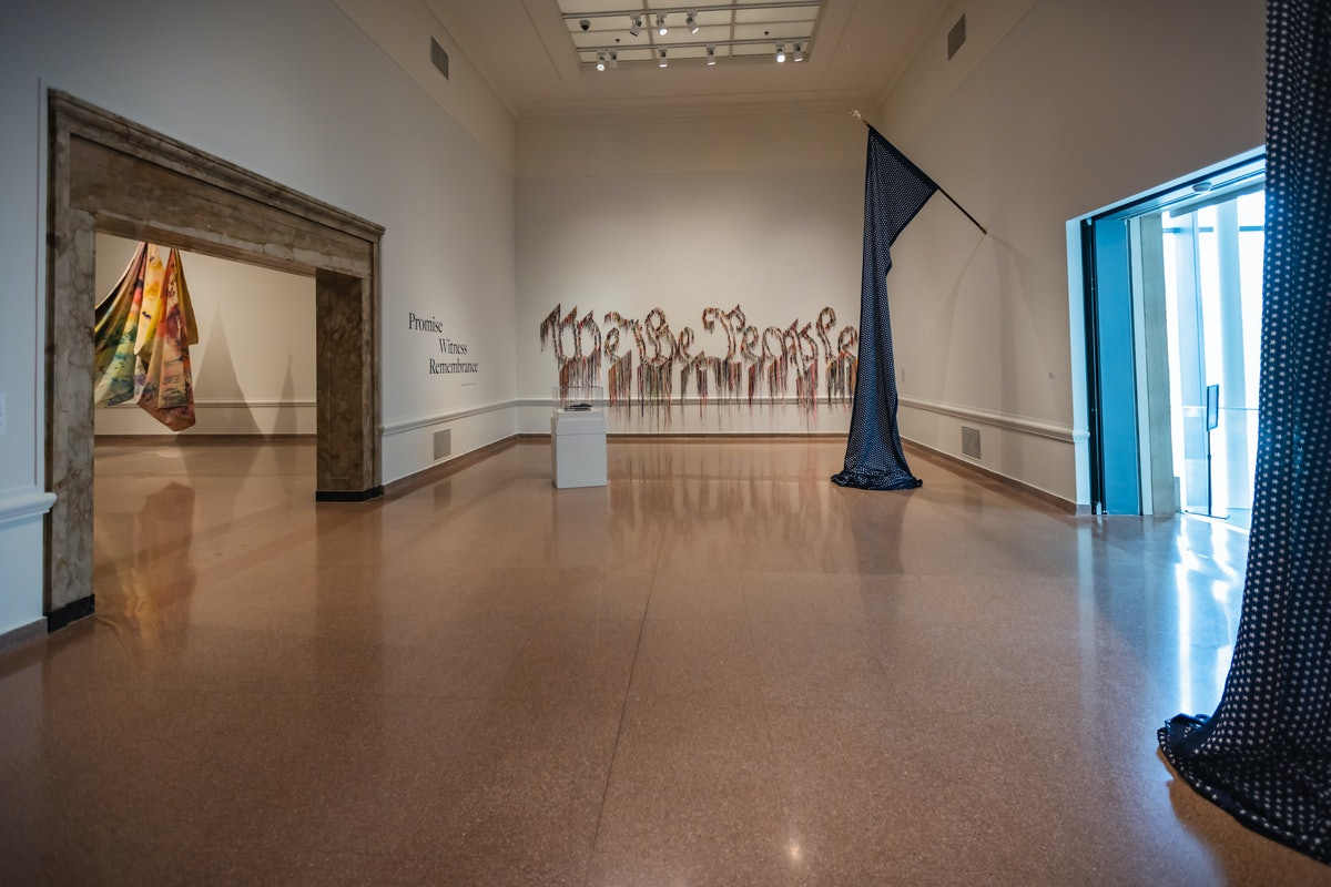 An install view of a show about Breonna Taylor