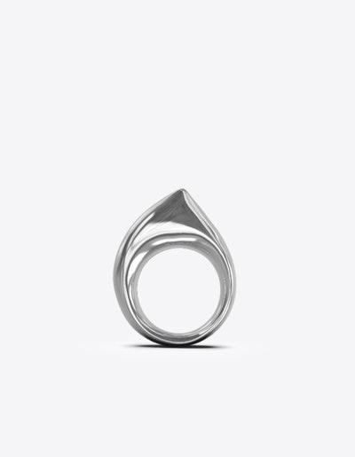 Ark Ring Nude in Sterling Silver