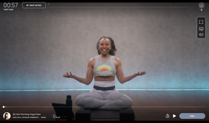Try this 30-minute morning yoga class from Chelsea Jackson Roberts.