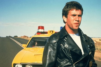 Mel Gibson as Max Rockatansky in 1979's Mad Max