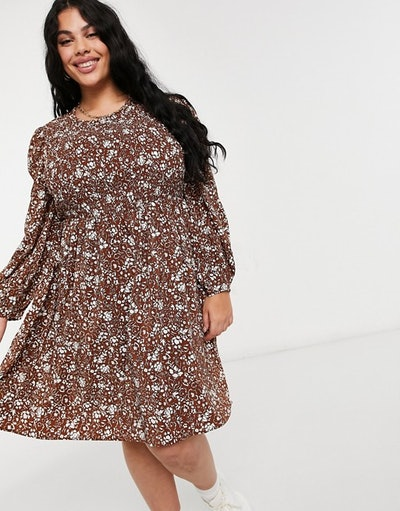 Fashion Union Plus Mini Smock Dress
