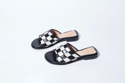 Quinta Woven Slide in Black/Marfil