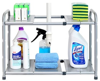 SimpleHouseware 2-Tier Under Sink Expandable Shelf Organizer