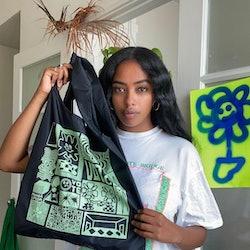 Re-useable bags from Baggu on Instagram.