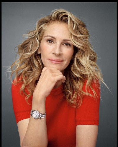 Actor Julia Roberts fronts Chopard's Happy Diamonds campaign, becoming an ambassador for the Swiss luxury jewelry brand.