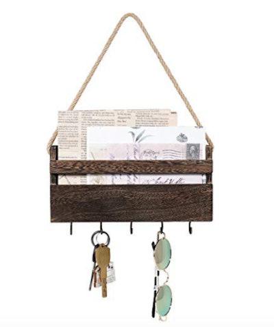 Rustic Key Holder Mail Organizer