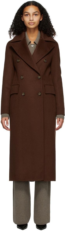 Burgundy Wool Lana Coat