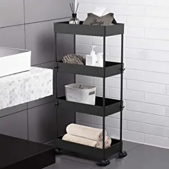AOJIA 4-Tier Slide Out Storage Cart