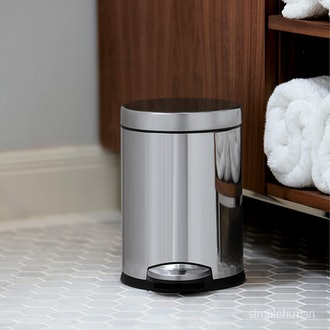 Simplehuman Round Bathroom Step Trash Can (4.5 Liter / 1.2 Gallon)